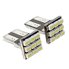 T10 0.5W 9x1206SMD 35LM White Light LED Bulb for Car (DC 12V,2pcs)