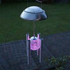 Farverige lys LED Solar Light Outdoor Solar Wind Chime Light