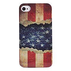 het snijden van papier de Amerikaanse vlag abs achterkant van de behuizing voor de iPhone 4/4s