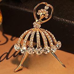 High-quality Crystal Balet Girl Brooch