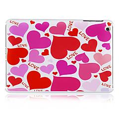 pinkki sydän kuvio muovi takaisin iPadille mini 3, iPad Mini 2, iPad Mini