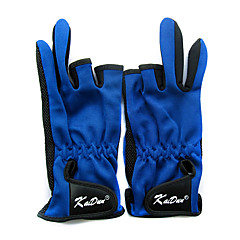 Three Mitten Canvas Blue Keep Warm Waterproof Fishing Glove