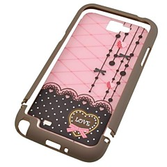 Coffee and Pink Love Plastic Case for Samsung N7100