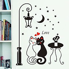 éjszaka utcai szerelmeseinek macska mintás pvc DIY tapéta