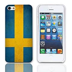 Vintage Le drapeau de la Suède cas dur de conception avec protecteurs d'écran 3-Pack pour iPhone 5/5S