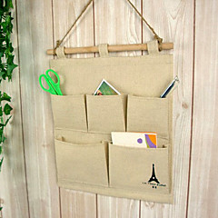 Iron Tower Pattern 5-Compartment Hanging Bag