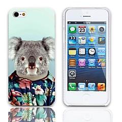Patrón Koala precioso estuche rígido con paquete de 3 protectores de pantalla para iPhone 5/5S