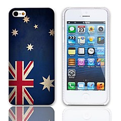 Vintage The Australian Flag Design Hard Case with 3-Pack Screen Protectors for iPhone 5/5S