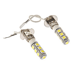 H3 6W 13x5060SMD 430LM 5500-6500K Cool White Light LED Pære til bil (12V)