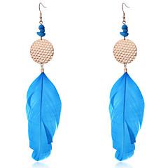 Earring Drop Earrings Jewelry Women Party / Daily / Casual Feather 2pcs
