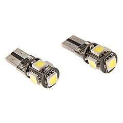T10 3W 5x5060SMD 230LM 5500-6500K Cool White Light LED Bulb for Car (12V)