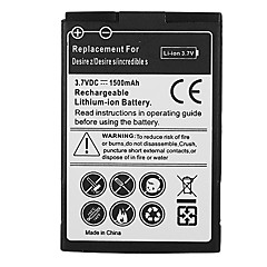 1500mAh mobiltelefon batteri til HTC Desire Z / Desire S / Incredible S, G15