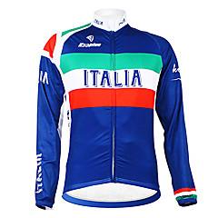 Kooplus - Italiano Nazionale Ciclismo manica lunga panno morbido Jersey
