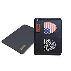 Novelty Jeans National Flag Leather Case with Stand for iPad2/3/4