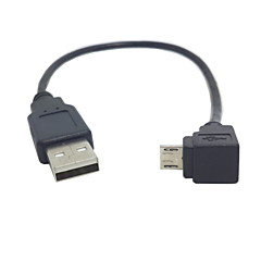 U2-205 w dół 90 stopni kątowy do Micro USB Kabel USB do ładowania danych do Samsung I9500 I9300 N7100