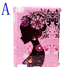 Beauty Illustration Design Hard Back Case/Cover for iPad2/3/4