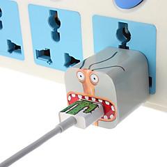 diy stora mun monster laddare klistermärken med oss plug väggladdare och kabel för iPhone 5 / 5s (5v 1a, 8pin, 93cm)