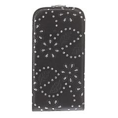 Special Design svart bakgrund Diamond Titta Full Body Väska till Samsung I9500