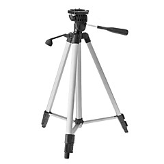 Weifeng WT-330A 3-Sección trípode de cámara (Plata + Negro)