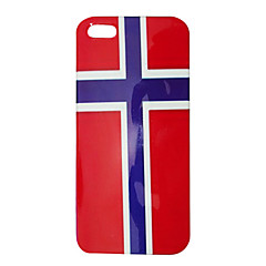 Norway Flag Pattern ABS Back Case for iPhone 5/5S