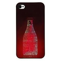 Bottle of Letters Pattern Aluminous Hard Case for iPhone 4/4S