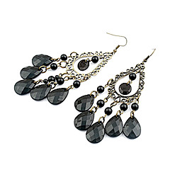Earring Drop Earrings Jewelry Women Party / Daily Alloy / Acrylic Black