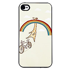 Happy Giraffe in the Rainbow Pattern Aluminous Hard Case for iPhone 4/4S
