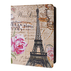 Eiffel og Pink Rose Pattern Full Body sak med stativ for iPad 2/3/4