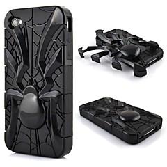 les réservoirs à double conception araignée forme de cas dur pour iphone4 / 4s (couleurs assorties)