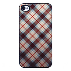 Green Grid Pattern Aluminous Hard Case for iPhone 4/4S
