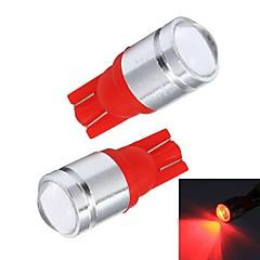 Merdia T10 1W 110LM Red Light Car Daytime Running Light / Instrument Lamp / License plate Light(Pair / 12V)