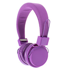PC/MP3/MP4/TelephoneためEX09I 3.5mmステレオ高音質オンイヤーヘッドホン(パープル)