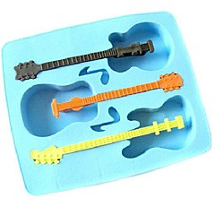 Novelty Guitar Style Silicon Ice Cube Mould