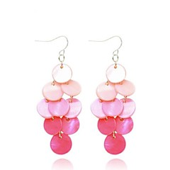 Fahion Round Frehwater hell Drop Earring