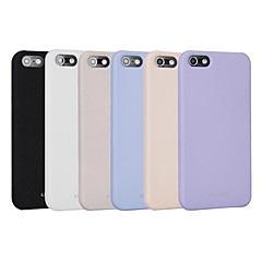 아이폰 5/5S를위한 단단한 색깔 모래 질감 매트 반대로 지문 단단한 뒤 케이스 (분류 된 색깔)