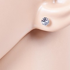 Single Crystal Stud Earrings