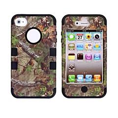 아이폰 4/4S를위한 나무 가지 패턴 보호 실리콘 케이스 (분류 된 색깔)