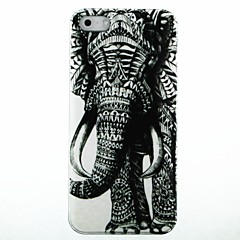 For iPhone 5 etui Mønster Etui Bagcover Etui Elefant Hårdt PC for iPhone SE/5s/5