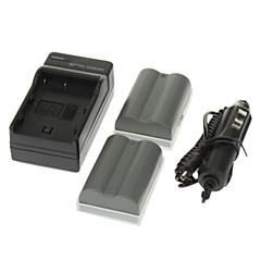 ismartdigi 1650mAh 카메라 배터리 (2PCS) + NIKON D700의 D90의 D80의 D200의 D300 FNP-150를위한 차 충전기