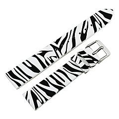 Vrouwen 18mm Zebra-Streep Genuine Leather Watch Band