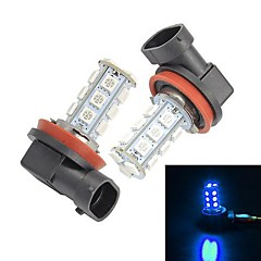 Merdia  H11 18 SMD 5050 LED Blue Light  for Car Fog Light (Pair/12V)