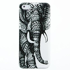 Left Elephant Pattern Hard Case Cover for iPhone 4/4S