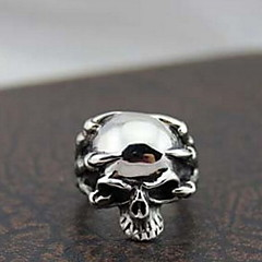 Z&X®  Gothic ilver Alloy kull Men's tatement Ring(1 Pc)