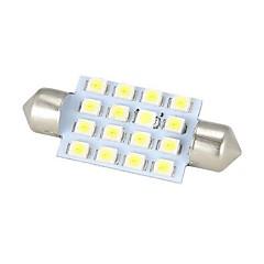 Merdia Girlande-42mm 16 x SMD 3528 LED-Weißlicht für Auto-Lenk Birne / Leselampe - (2 PCS)