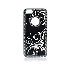 diamant de luxe de chiquenaude de pulvérisation de peinture de couverture de cas pour iPhone5/5S