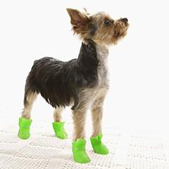Pisici / Câini Pantofi & Cizme Impermeabil Iarnă / Primăvara/toamnă Solid Galben / Albastru / Mov / Negru / Roz Silicon