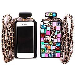 Noble Case TPU botella de perfume de cristal de diamante para el iPhone 5/5S