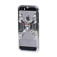 geekrover caso difícil 3d crânio jailbreak de metal para iphone 5 / 5s (cores sortidas)