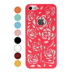 Patrón Rose Hollow plástico duro caso para iPhone 5/5S