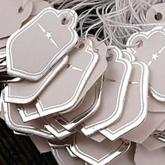Fashion Paper Silver Star Display Price Tags (White)(500pcs)